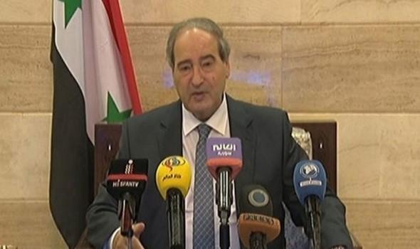 وزير الخارجية السورى يؤكد أن دمشق حريصة على مساعدة لبنان ليتجاوز التحديات