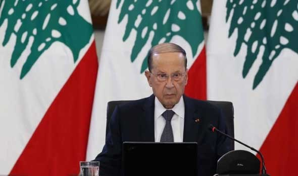 الرئيس اللبناني يعلن عن الرغبة باستئناف المفاوضات غير المباشرة لترسيم الحدود البحرية