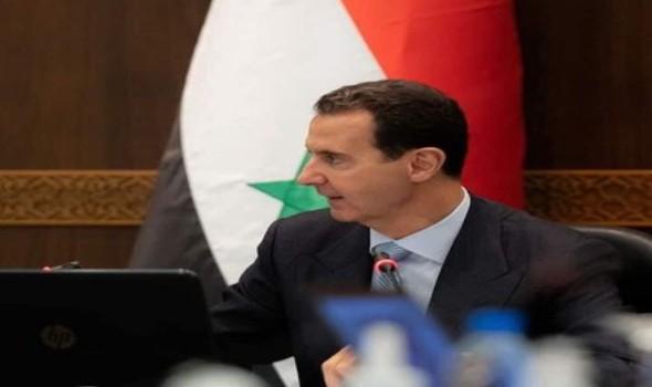 بشار الأسد يؤدى صلاة عيد الفطر فى الجامع الأموي في دمشق