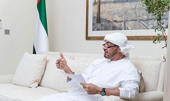 محمد بن زايد يتلقى اتصالاً هاتفياً من رئيس مجلس السيادة الانتقالي في السودان