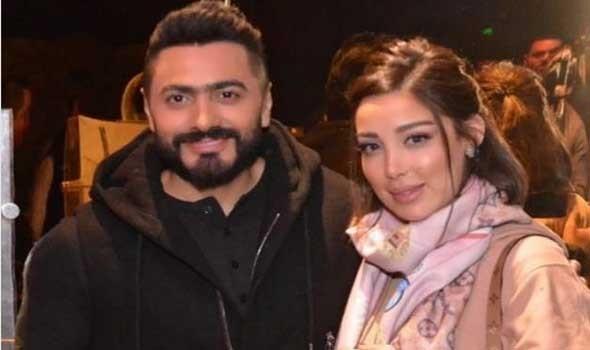 تامر حسني وزوجته يقرران إطلاق عطر فرنسي يحمل توقيعهما في عيد الحب
