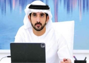 """العرب اليوم - مغامرة تحبس الأنفاس لولي عهد دبي فوق """"عين دبي"""" أكبر عجلة مشاهدة في العالم"""