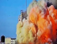 العرب اليوم - طيران الاحتلال يدمر ما تبقى من برج الشروق بغزة ويسويه بالأرض