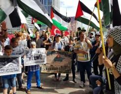 العرب اليوم - وقفة للشعبي الناصري امام قلعة صيدا تضامنا مع الشعب الفلسطيني