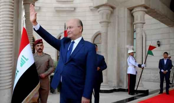 الرئيس العراقي يؤكد دعم بلاده للقضية الفلسطينية