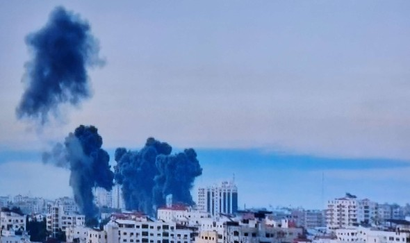 العرب اليوم - إطلاق دفعة صواريخ من قطاع غزة باتجاه مستوطنات الغلاف