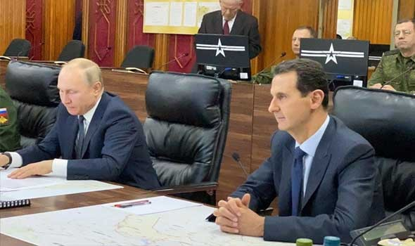 العرب اليوم - قمة روسية ـ سورية في موسكو وبوتين يهنئ الأسد بعيد ميلاده ويدخل العزل الذاتي