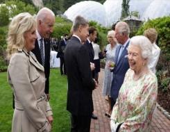 العرب اليوم - الرئيس الأميركي يصل قصر ويندسور للقاء الملكة إليزابيث الثانية