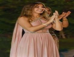 العرب اليوم - نانسي عجرم تتألق بفستان زهري من إيلي صعب