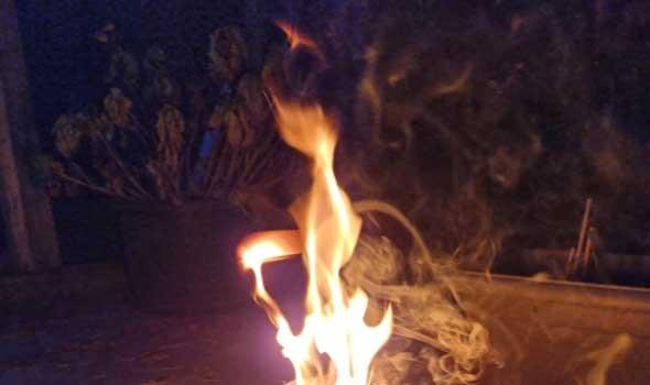 حريق ضخم في مصنع للمنتجات البلاستيكية في مصر